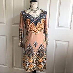 Muse for Boston Proper Boho Beaded Midi V Dress